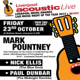 Preview: Liverpool Acoustic Live – Friday 23rd October 2015