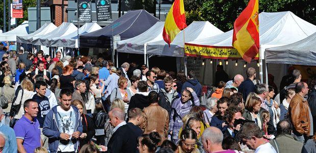 Hope Street Feast street stalls