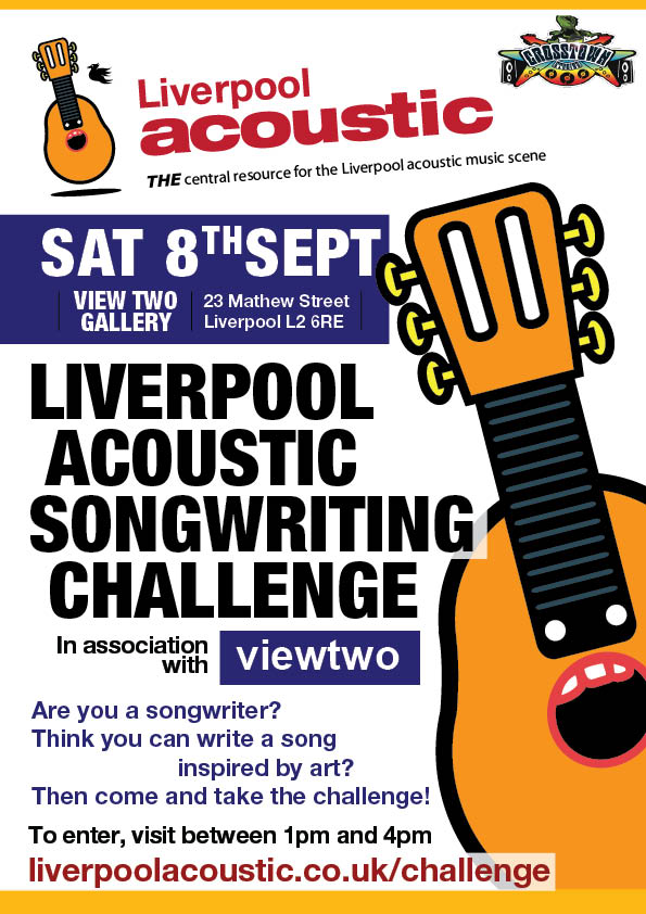 Liverpool Acoustic Songwriting Challenge launch 8th September 2012