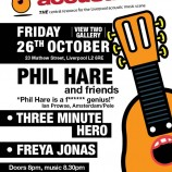 Phil Hare at the View Two this Friday 26th October 2012