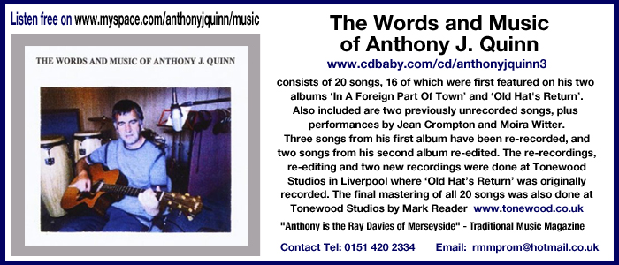 The Words and Music of Anthony J. Quinn