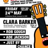 Clara Barker, Rob Gough, Ade Jackson and Just By Chance this Friday
