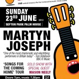 Martyn Joseph at Sefton Park Palm House this Sunday 23rd June 2013