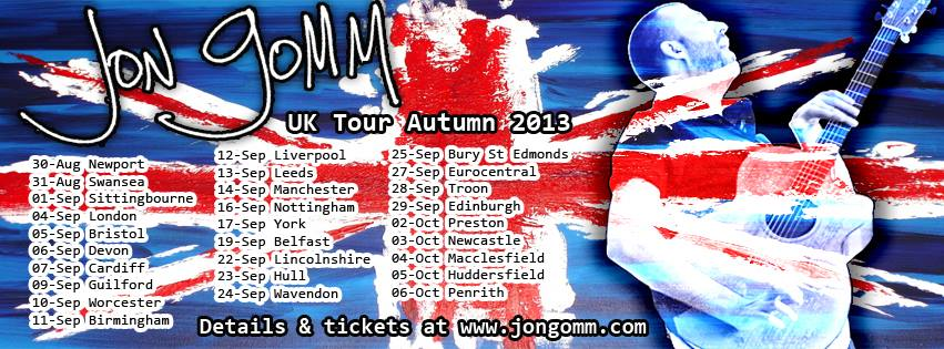 Jon Gomm UK tour 2013