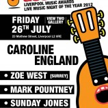 Caroline England single launch this Friday 26th July 2013