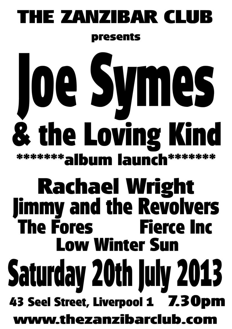 joe symes and the loving kind album launch