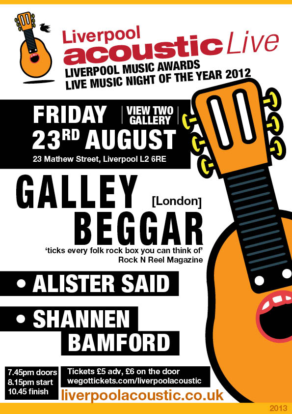 Liverpool Acoustic Live friday 23rd august 2013
