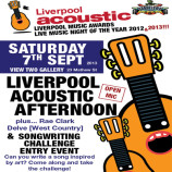 Songwriting Challenge launch & Liverpool Acoustic Afternoon – Saturday 7th September 2013