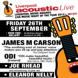 Preview: Liverpool Acoustic Live – Friday 26th September 2014