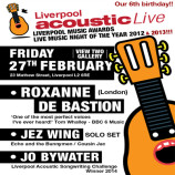 Preview: Liverpool Acoustic Live – Friday 27th February 2015