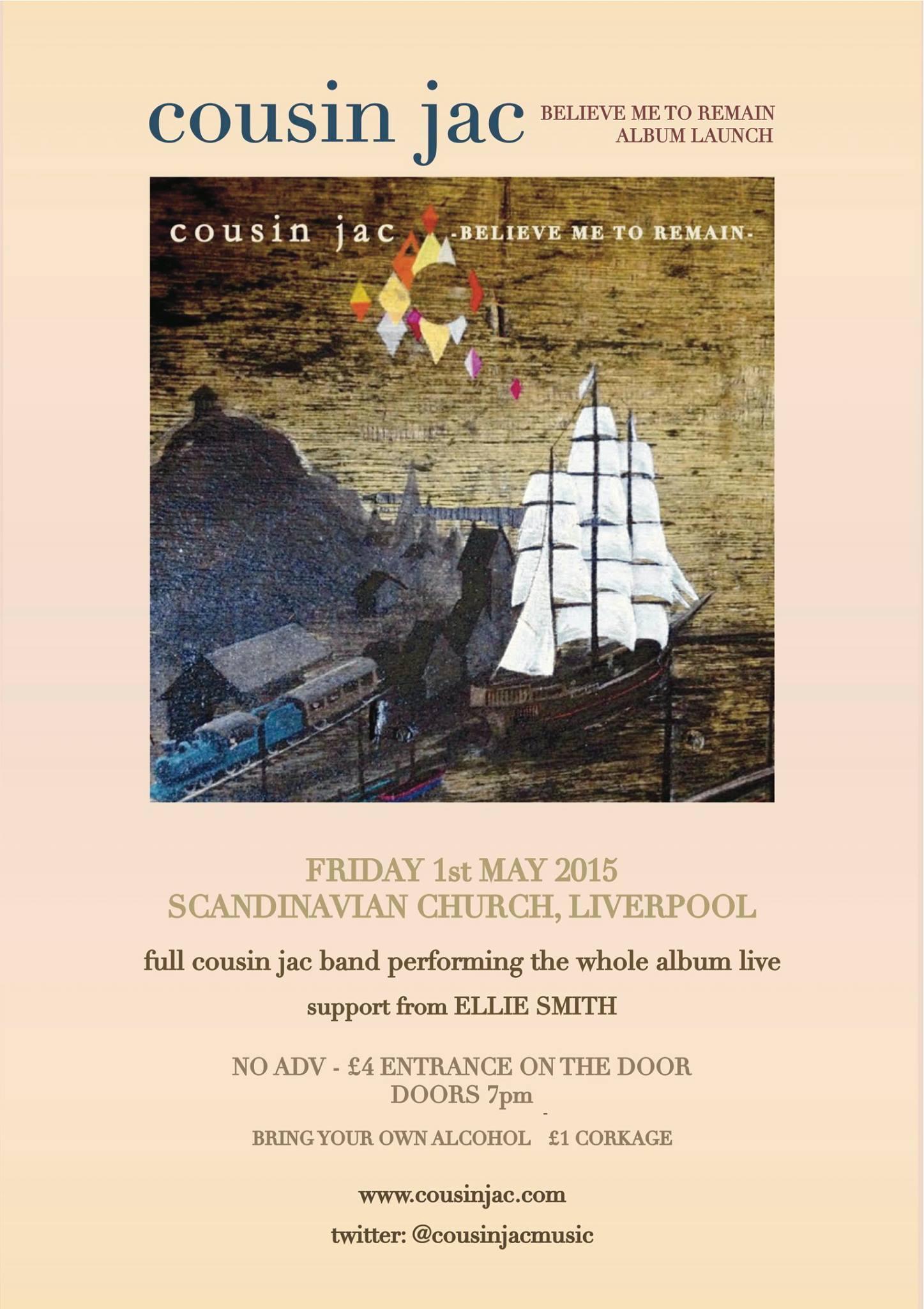 cousin jac album launch poster