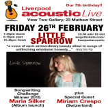 Preview: Liverpool Acoustic Live – Friday 26th February 2016