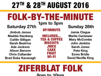 Preview: Folk-by-the-Minute @ Folk Festival on the Dock – 27th & 28th September 2016
