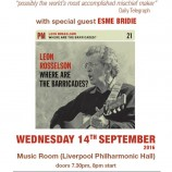Preview: Leon Rosselson @ Music Room – 14th September 2016