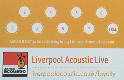 liverpool acoustic loyalty card