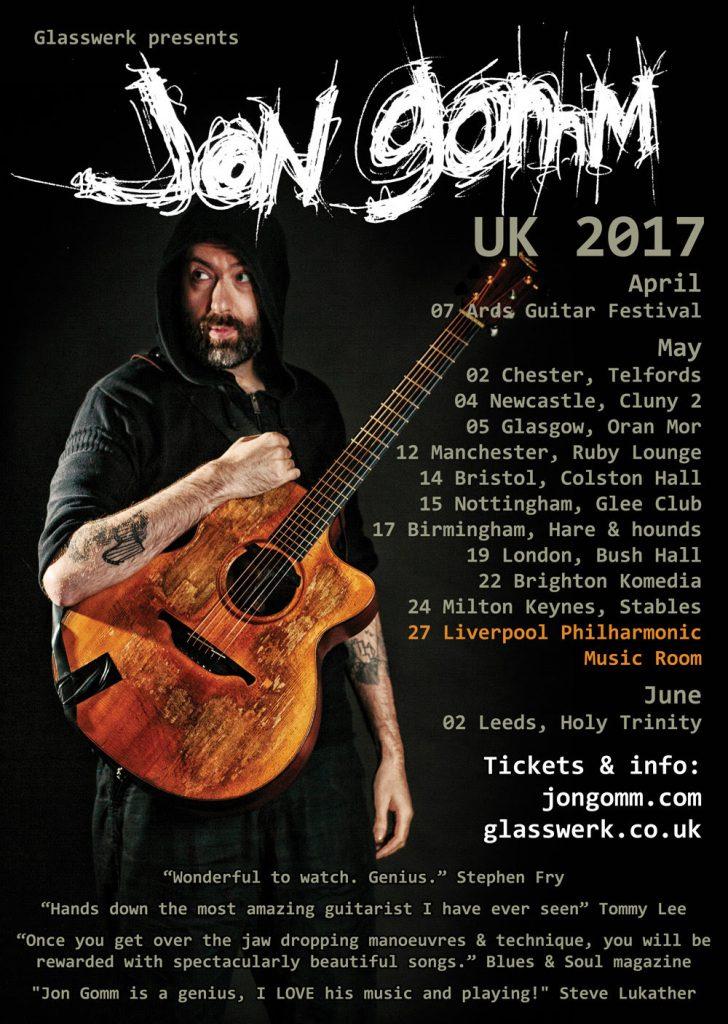 jon gomm 2017 tour