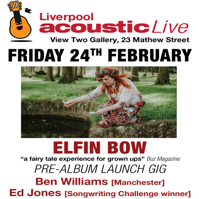 liverpool acoustic live poster february 2017