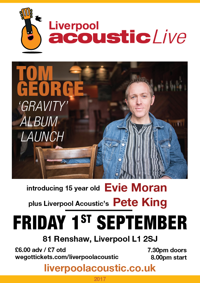Preview: Tom George album launch @ 81 Renshaw 01/09/17
