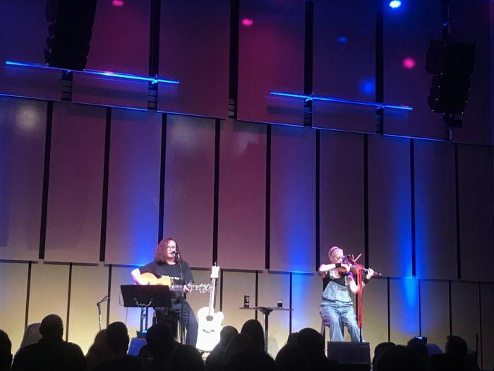 Miles Hunt and Erica Nockalls music room