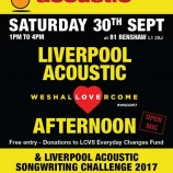 Preview: Liverpool Acoustic 'We Shall Overcome' Afternoon @ 81 Renshaw 30/09/17